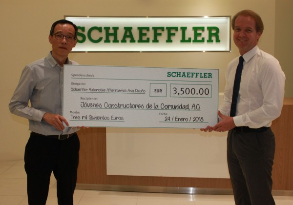 Schaeffler South East Asia donates 3,500 euros to charity organization in Mexico