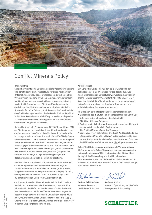 Conflict Minerals Policy