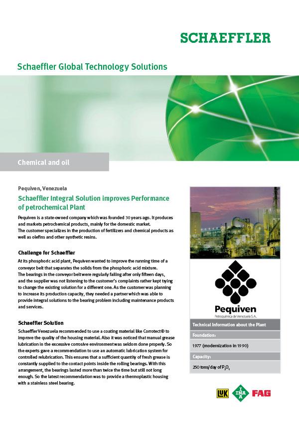 Schaeffler Integral Solution improves Performance of petrochemical