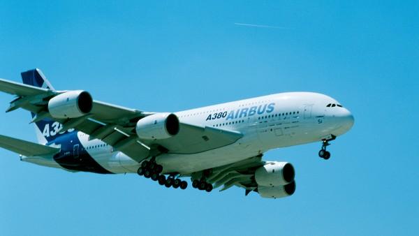 Jungfernflug des Airbus A380 mit FAG Lagern.