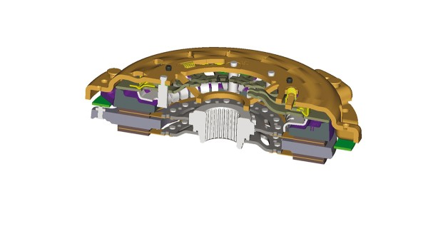 Technology Premiere: LuK presents a twin plate clutch with self adjustment for standard applications for the first time.
