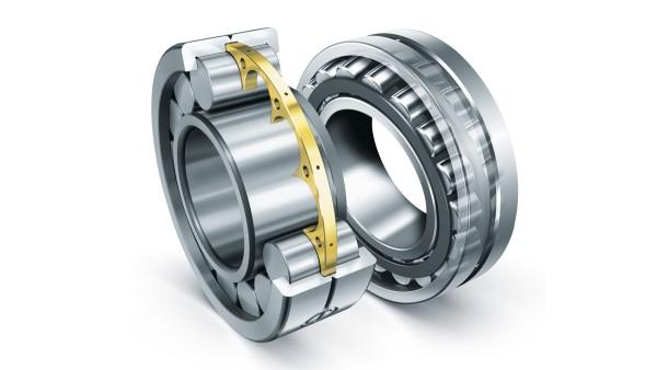 Zylinderrollenlager und Pendelrollenlager von Schaeffler werden den extremen Anforderungen in Baumaschinen gerecht.