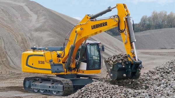 Baumaschinen wie beispielsweise Raupenbagger stellen unterschiedlichste Anforderungen an die eingesetzten Lager.