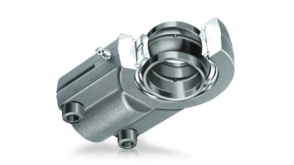 Spherical plain bearings requiring maintenance