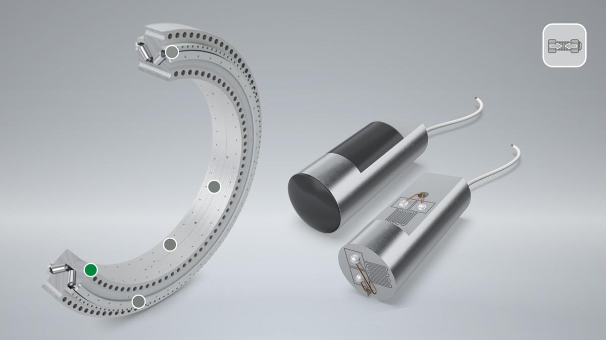 Bei Flanschlagern hat die Vorspannung der Schrauben einen direkten Einfluss auf die Leistungsfähigkeit und Gebrauchsdauer des Lagers. Der LoadSense Pin überwacht die Schraubenvorspannung während des Betriebs und warnt den Anwender, sobald ein Schwellwert unterschritten wird.