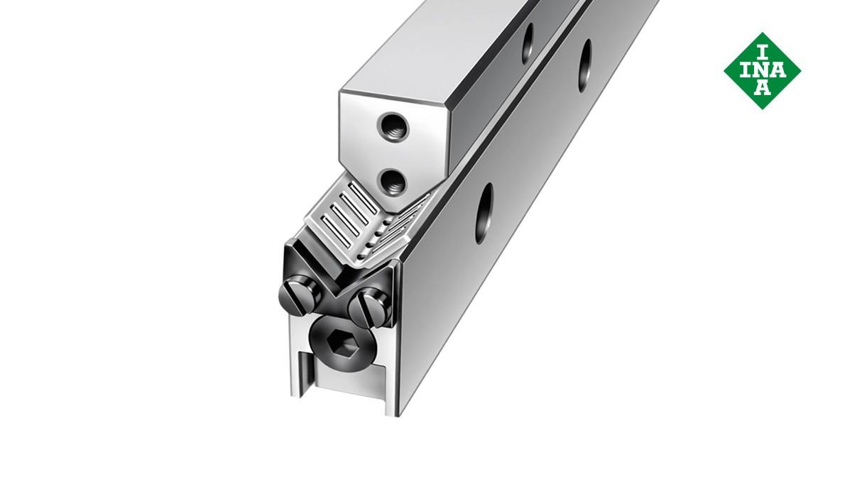 Schaeffler Linearführungen:  M-/V-Führungsschienen mit Winkel-Flachkäfig