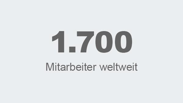 1.700  Mitarbeiter weltweit