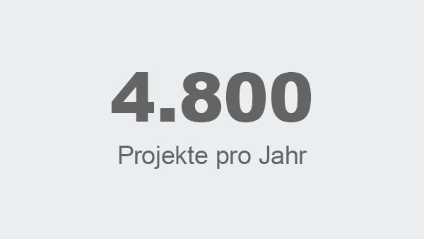 4.800 Projekte