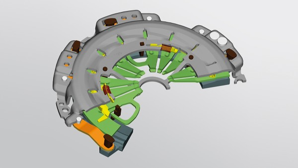 Die LuK SAC (Self Adjusting Clutch) reduziert die Pedalkräfte und erhöht die Lebensdauer bei Schaltkupplungen.