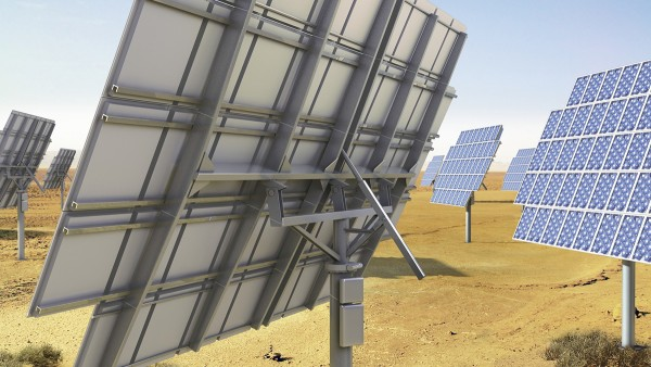 Photovoltaic plants with tracking systems