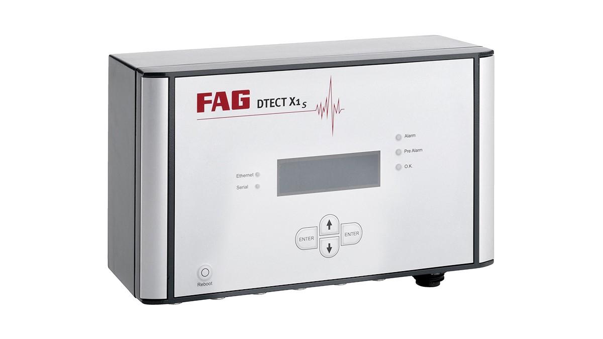 FAG DTECT X1 s ist ein flexibles Online-System zur Überwachung von rotierenden Bauteilen und Elementen in der Maschinen- und Anlagenindustrie.